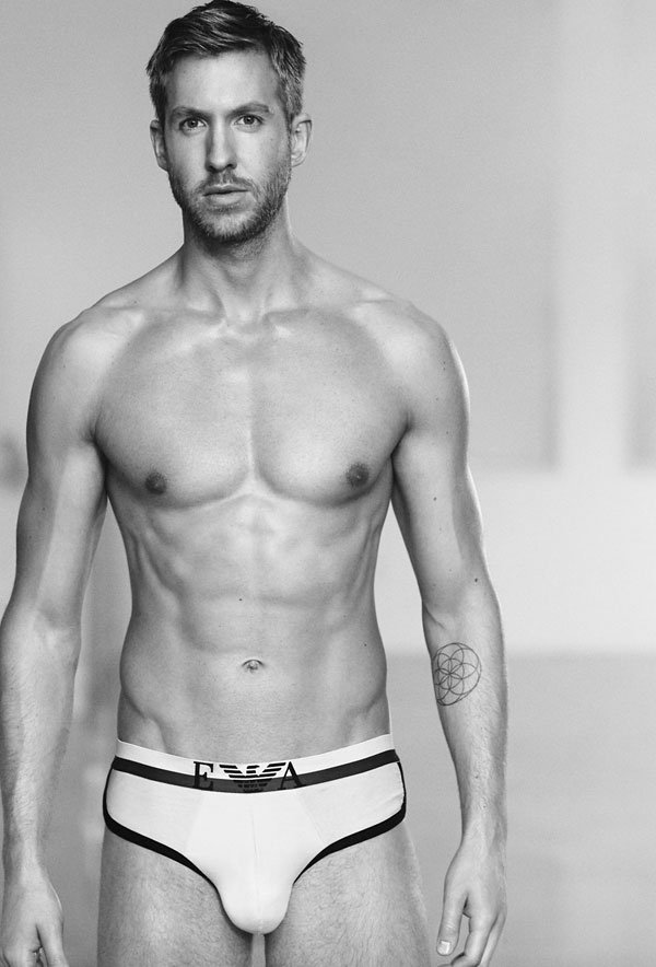 Taylor Swift's boyfriend Calving Harris posed for Armani underwear commercial