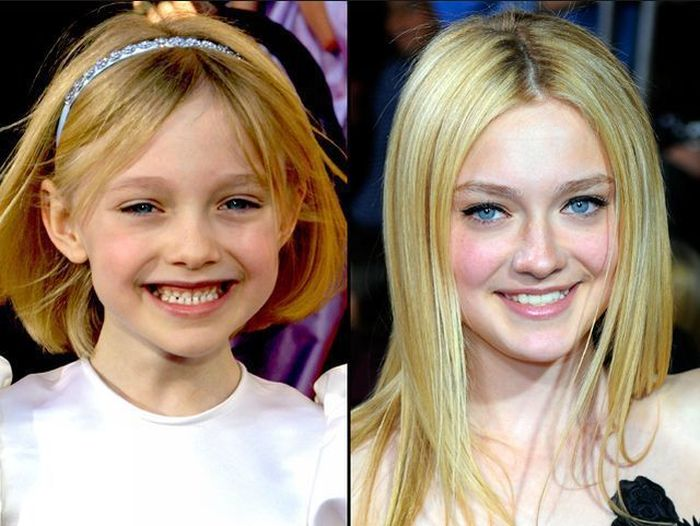 Dakota Fanning- then and now celebrities