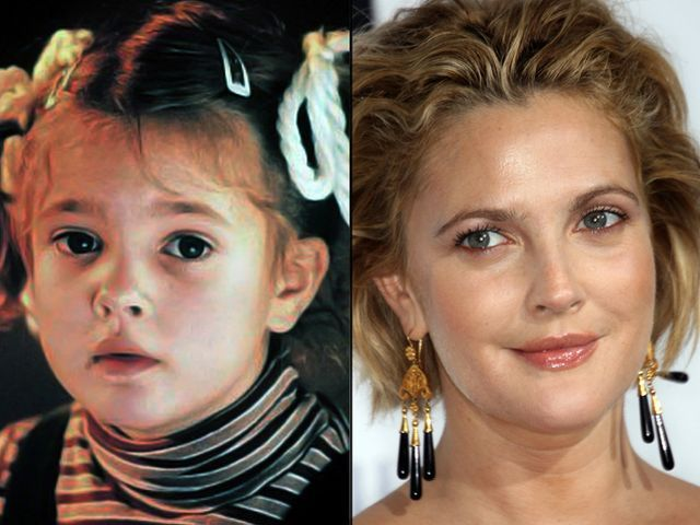 Drew-Barrymore-Then-and-Now-Celebrity-Photos