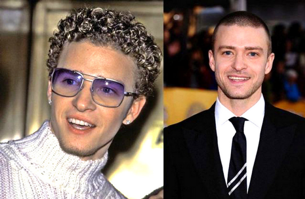 Justin Timberlake- celebrities now and then