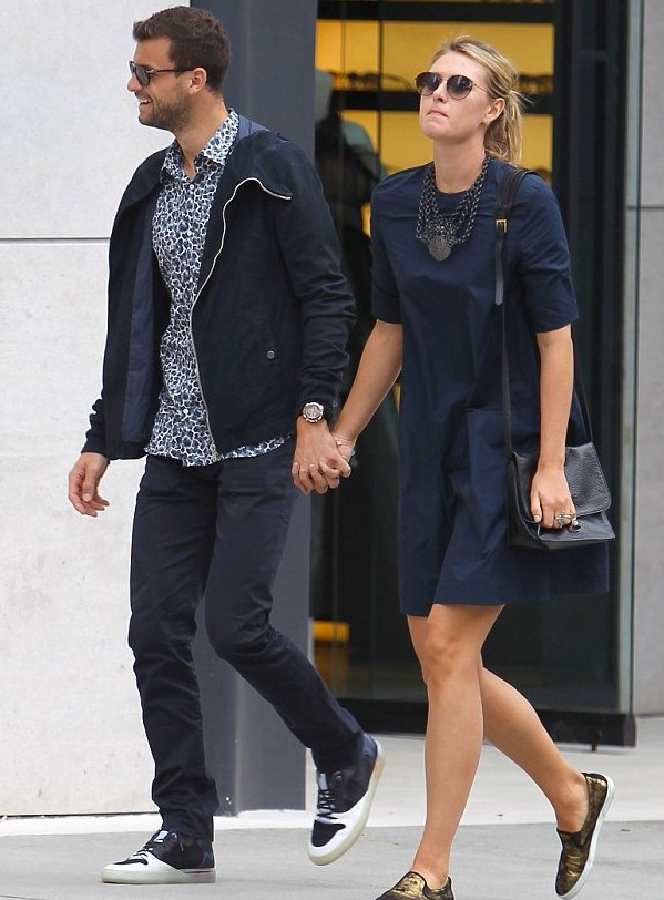 Maria Sharapova and her hunky boyfriend Grigor Dimitrov spotted on a romantic stroll around Beverly Hills