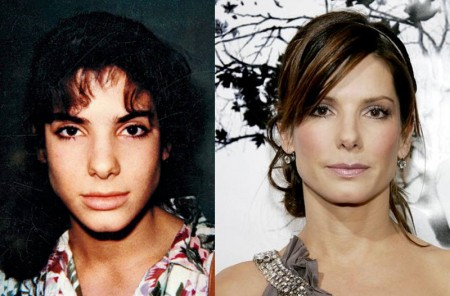 Sandra Bullock now and then