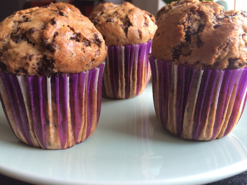 Delicious Banana Chocolate Chip Muffins