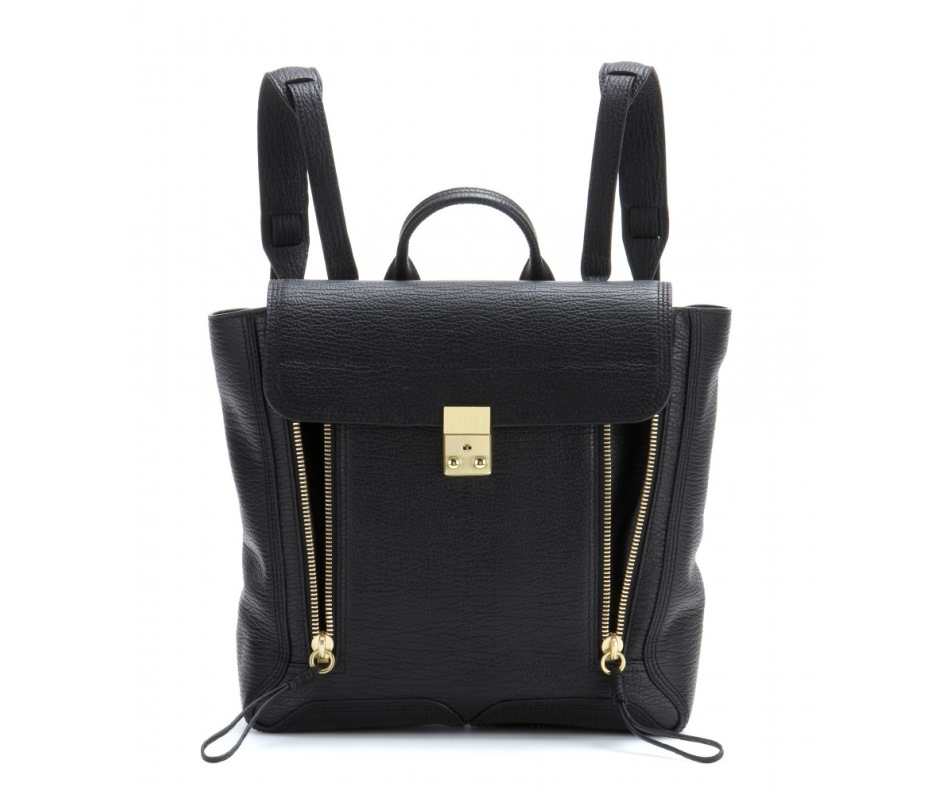 3.1 Phillip Lim black zipped backpack