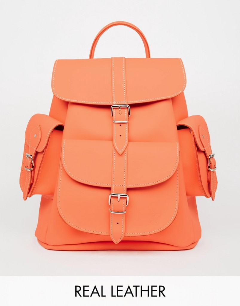 Grafea Hari Backpack in Peach $225.00, asos.com