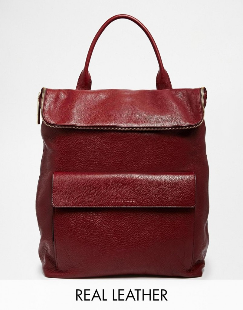 Whistles Exclusive Verity Backpack in Oxblood $502.00, asos.com