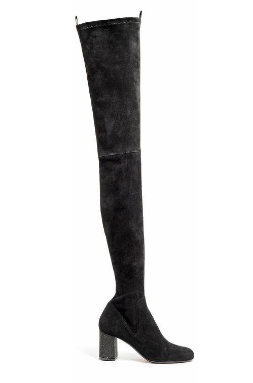 Calvin Klein Collection-Black wool thigh boots €1,595