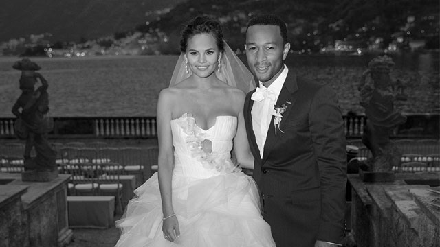 Chrissy Teigen and John Legend wedding photo