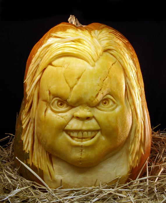 Chucky Halloween Pumpkin Carving