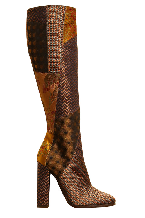 Etro Silk patchwork leather boots €1,250