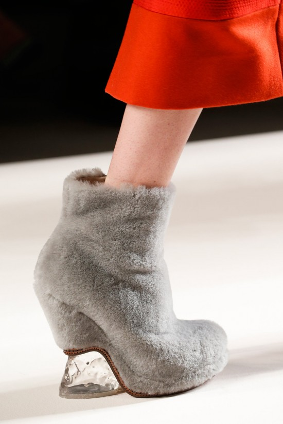 Fendi-Fall-Winter 2015-2016 fluffy shoes