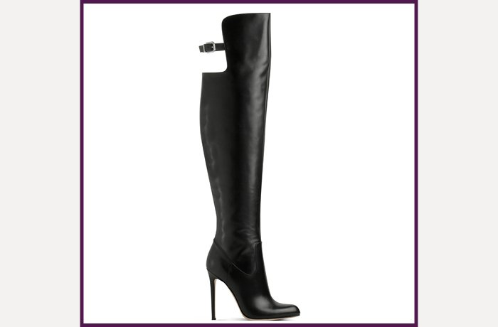 Gianvito Rossi black leather over-the-knee boot, ,560