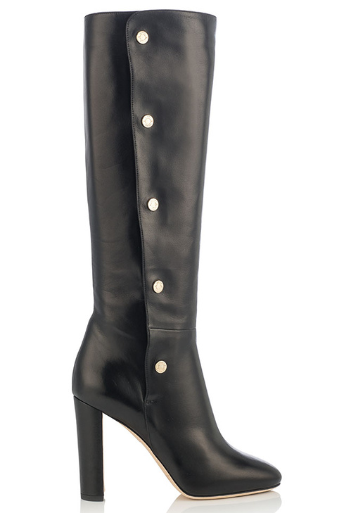 Jimmy Choo-Soft nappa leather black boots