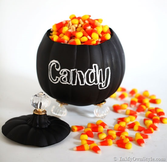 Pumpkin Candy Jar Carving for Halloween
