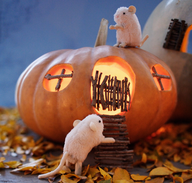 Pumpkin Mouse House for Halloween