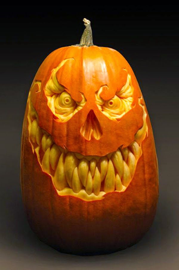 Evil pumpkin carving ideas for Halloween