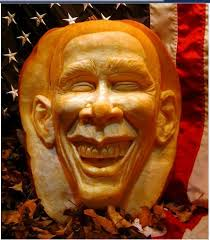 Obama pumpkin carving for Halloween