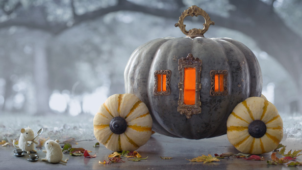 Cinderrella Pumpkin Carriage for Halloween