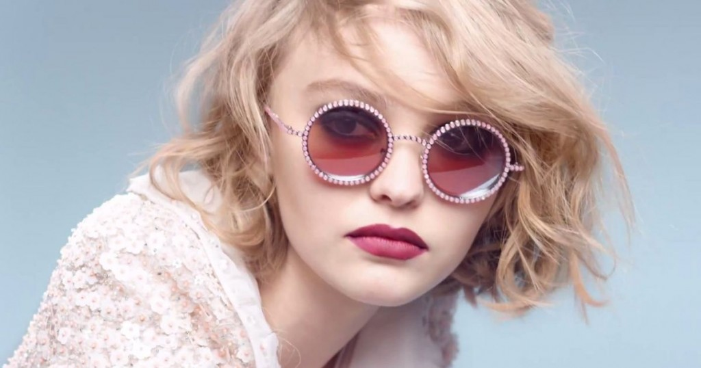 Lily-Rose Depp in Chanel Pearl Eyewear campaign-pictures by Karl Lagerfeld