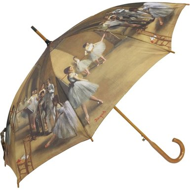 Degas Ballerinas Auto Stick Umbrella