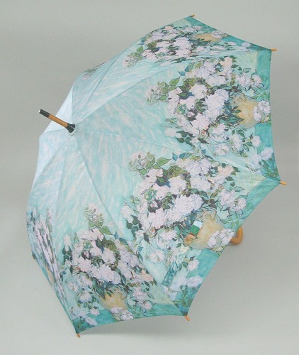 Van Gogh White Flower Umbrella