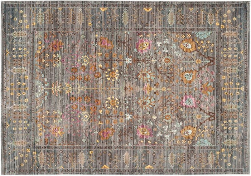 persian grey and colours rug